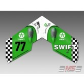 MS Composit - Swift II - Retro Green EPP + Motore, servi, regolatore