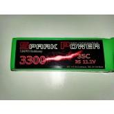 SPARK POWER   Batteria Lipo 3S 3300 mAh 11.1V 45C spina tipo MPX