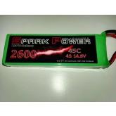 SPARK POWER   Batteria Lipo 4S 2600 mAh 14.8V 45C spina tipo MPX