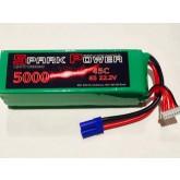 SPARK POWER   Batteria Lipo 6S 5000 mAh 22,2V 45C spina tipo EC5