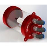 High Flow Super Trap 175ml, 4mm QS Elbow Inlet, Pump & Fill Ports
